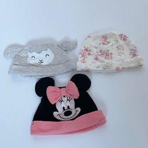 Baby Girl Beanie Hats 0-3 Months